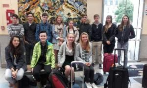 Le groupe franco-américain réuni avant le départ